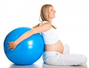 Pregnancy Exercise with swiss ball