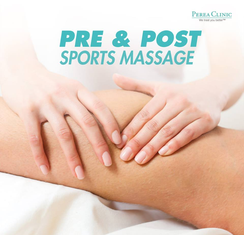 1. Pre and Post Sports Massage